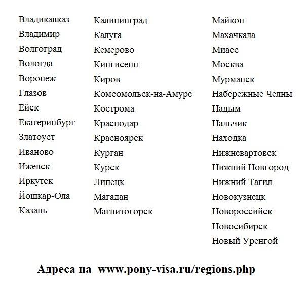 Получение шенгенской визы в 57 городах России не покидая своего города