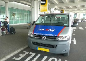 Шаттл в аэропорту,Будапешт.