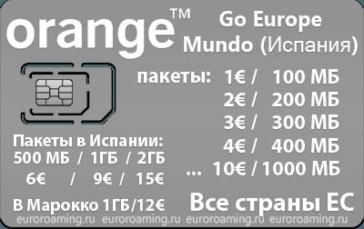 Сим-карта Orange GO Europe