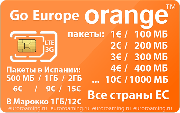 Отзыв об использовании сим-карты Оранж в Испании