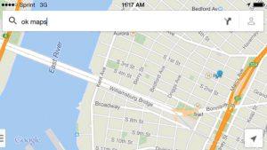 функция под названием «OK Maps