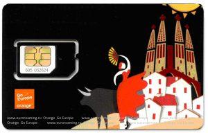 туристическая сим-карта Orange
