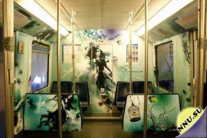 вагоны в метро амстердама разрисованы