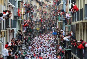 «Сан-Фермин» празднуется в Испании