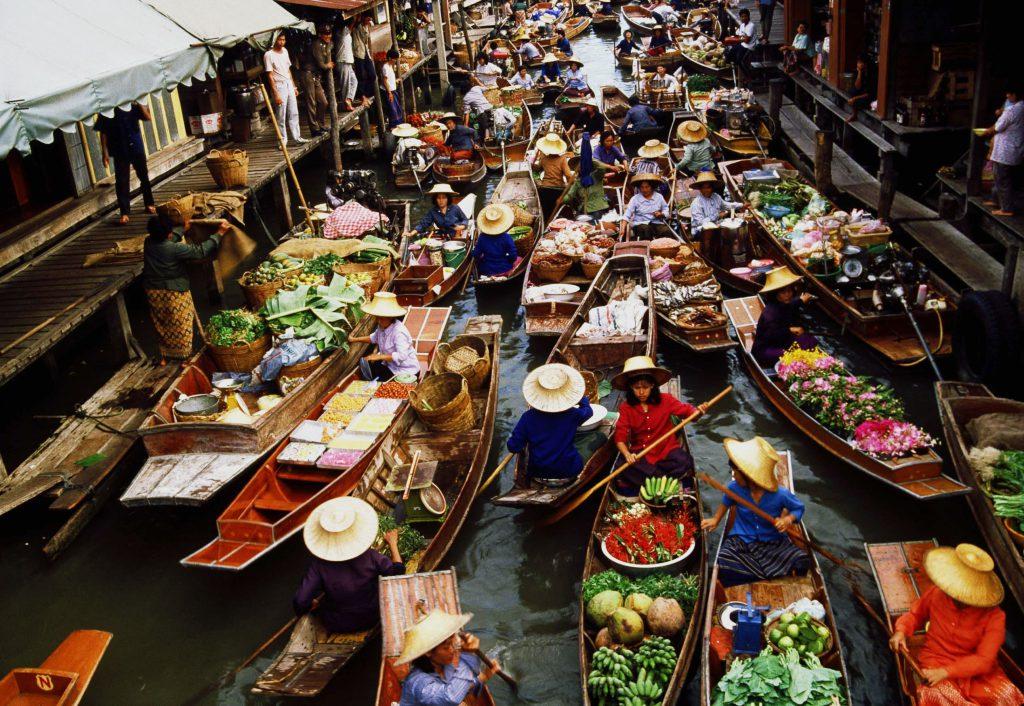 Плавающий рынок Бангкок