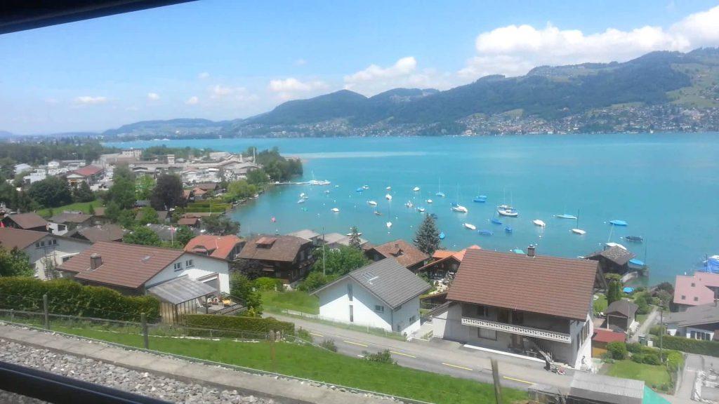 вид из окна швейцария