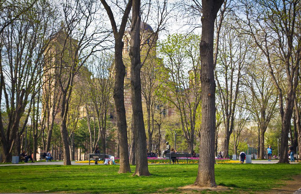 в парке Ташмайдан Белград