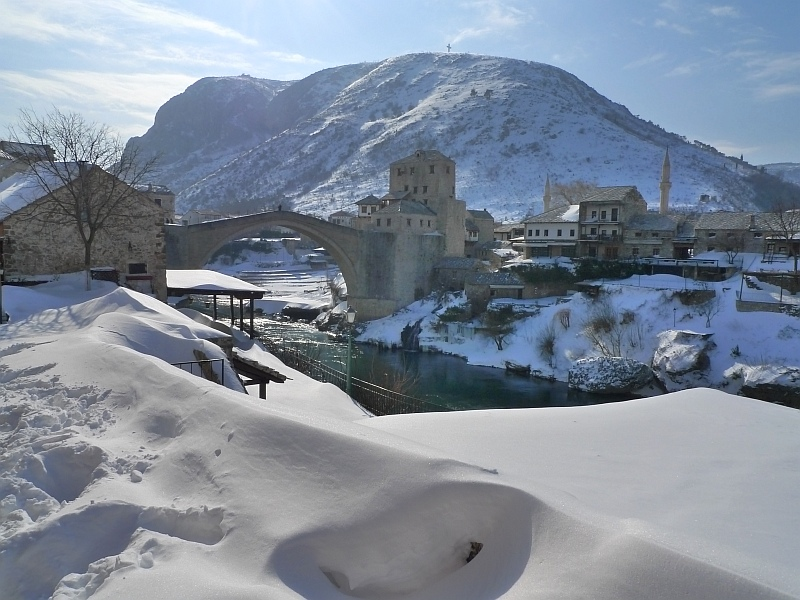 Босния и Герцеговина Старый мост в городе Мостар