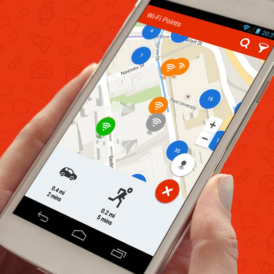 WiFi Map Семь полезных приложений для автобусного тура