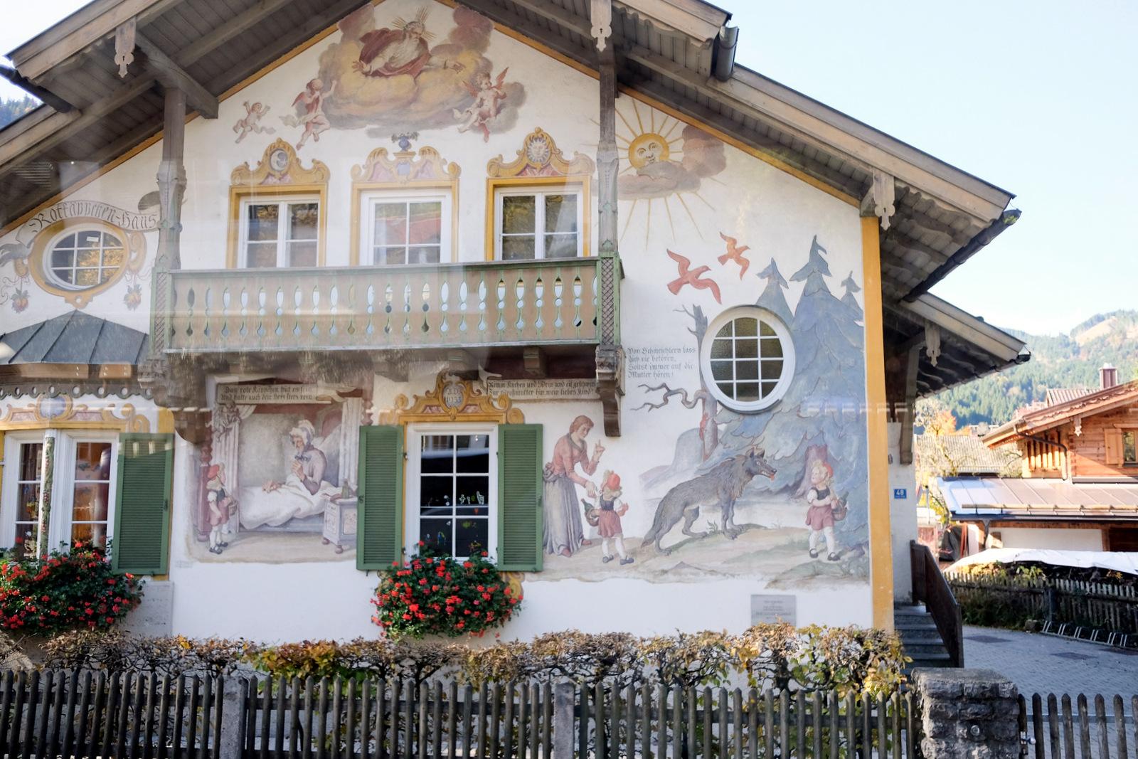Oberammergau village near Füssen autumn