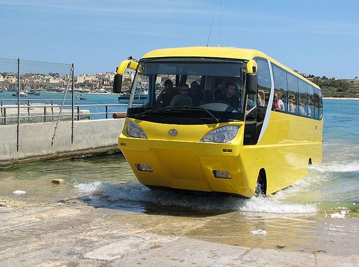 автобус амфибия, автобус поражает – самые необычные транспортные средства
