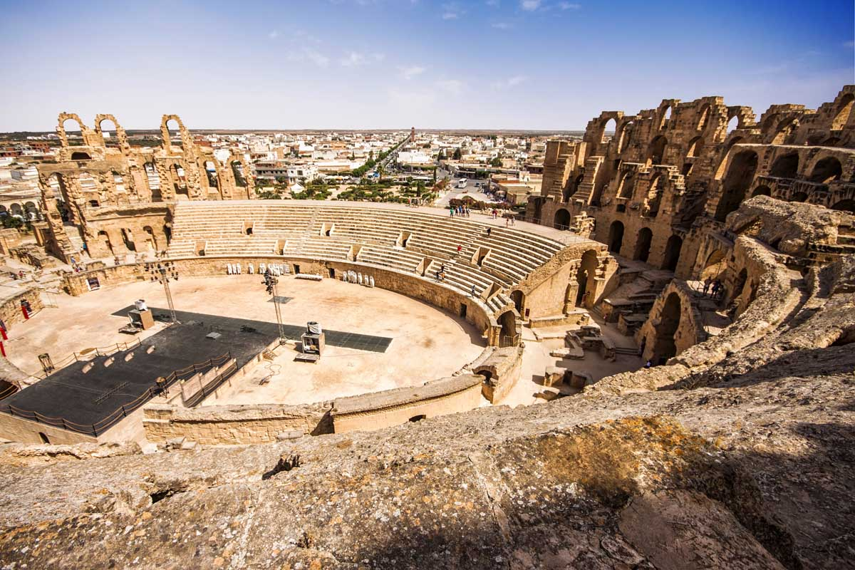 бюджетные достопримечательности колизей в Тунисе