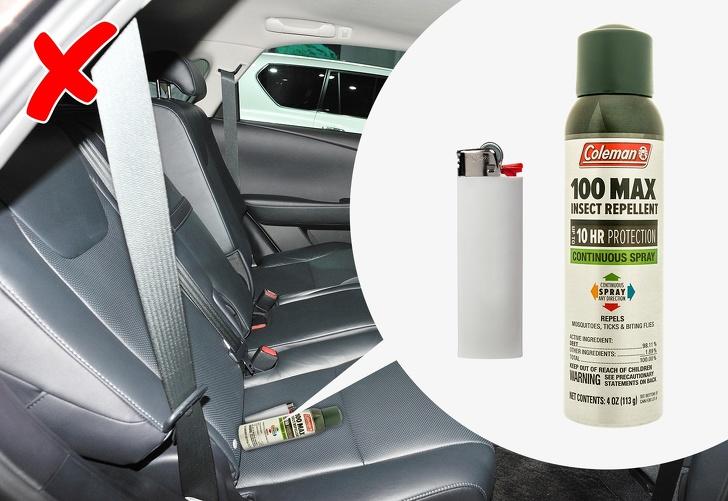 Топ-5 потенциально опасных вещей, которые не стоит оставлять в салоне авто