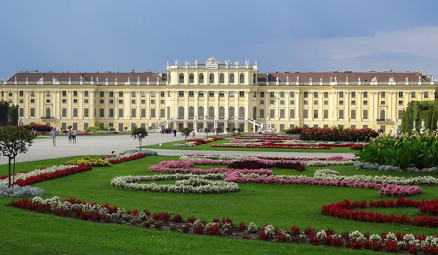 Сады дворца Шёнбрунн