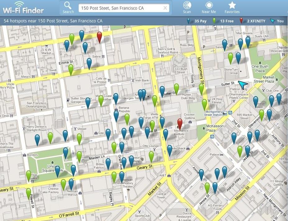 приложение Free Wi-Fi Finder