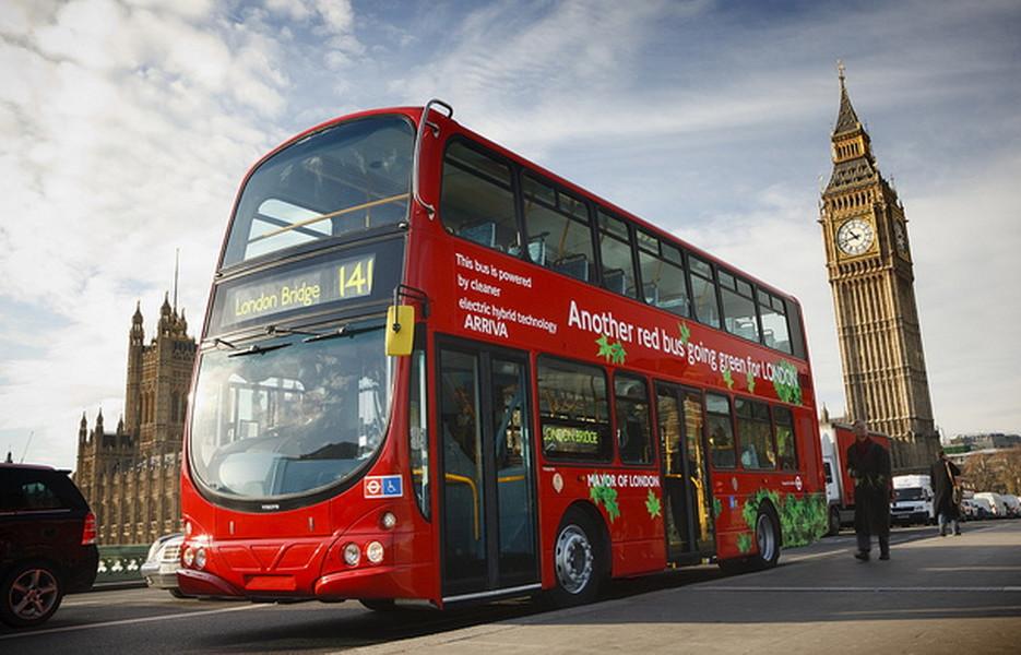 В Лондоне автобусы ездят на кофе?