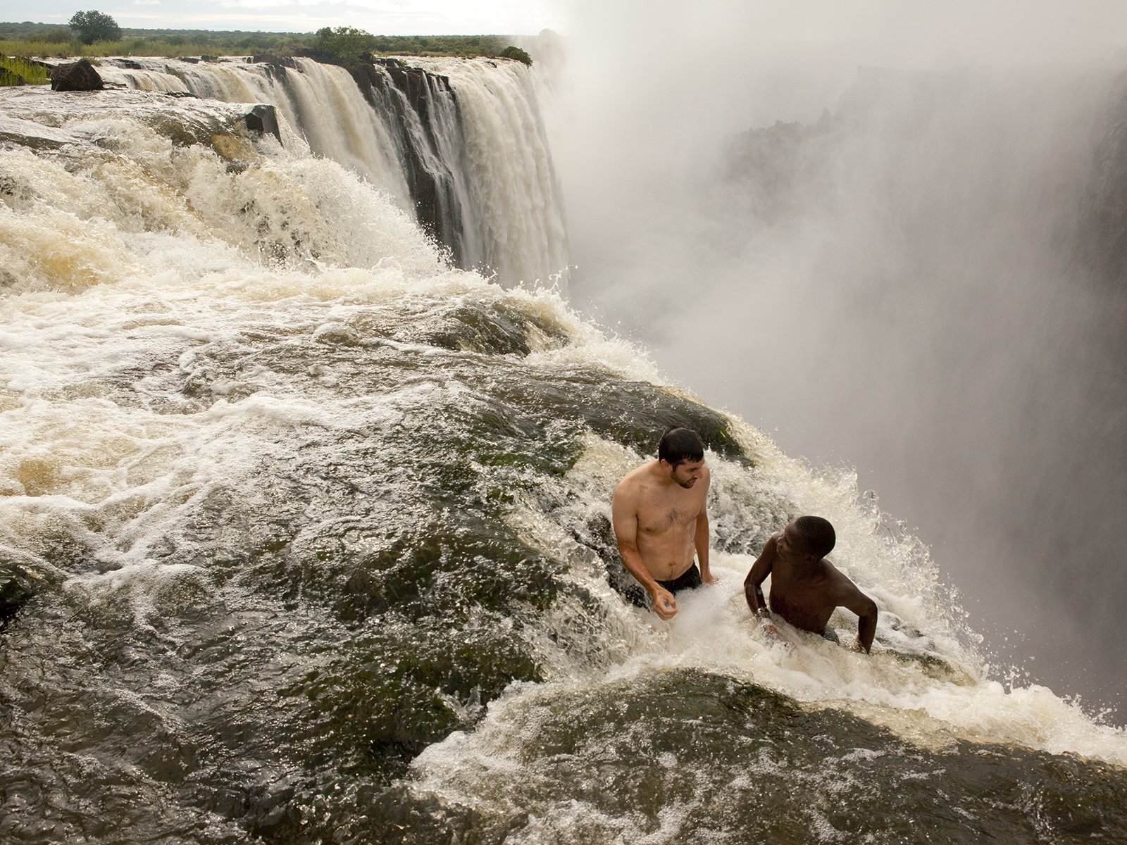 водопад виктория Бассейн дьявола