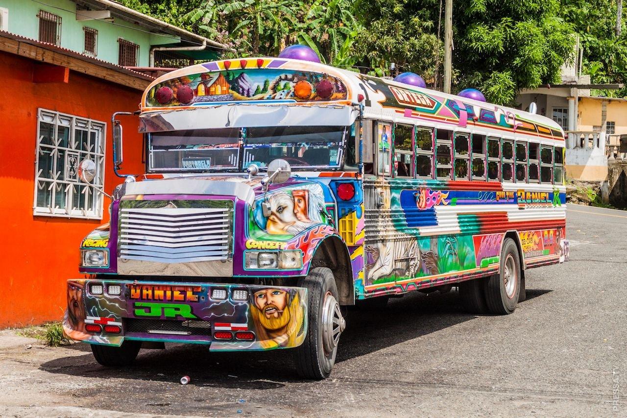 Куриный автобус Центральная Америка