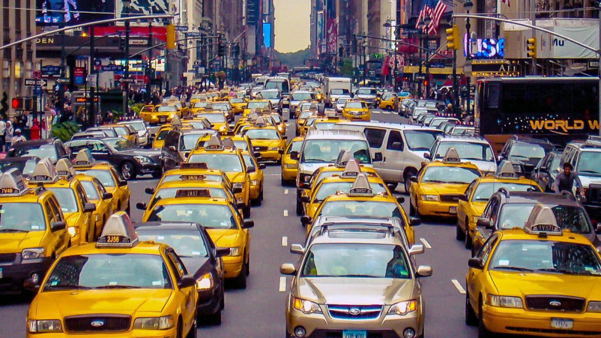 Желтая кабина, Нью-Йорк