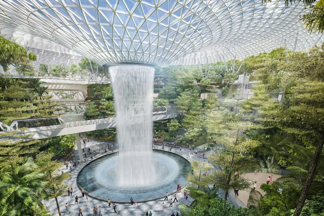 Jewel Changi Airport - жемчужина сингапурского аэропорта