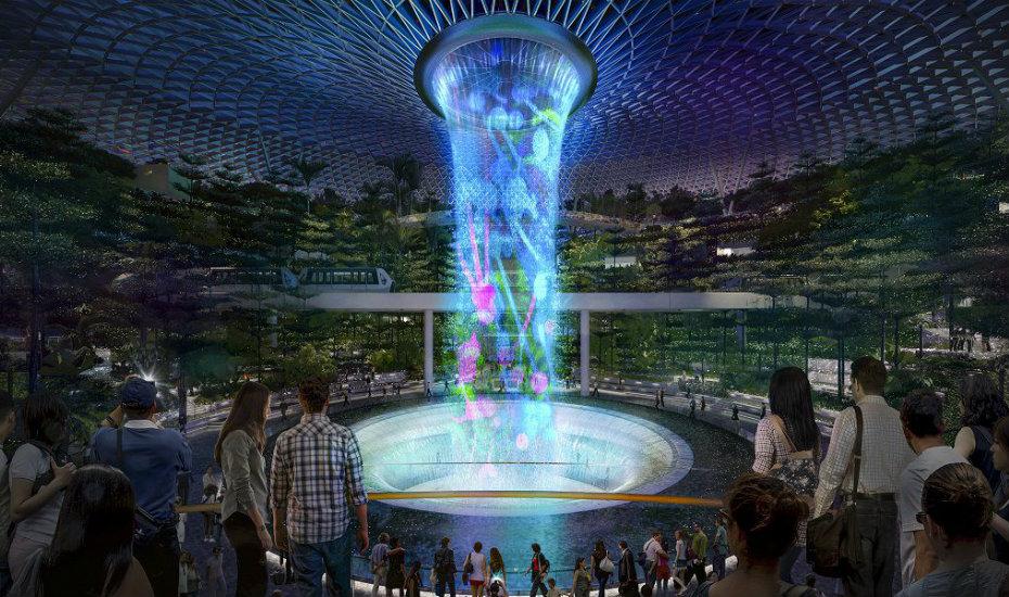 Самый большой крытый водопад в мире – жемчужина сингапурского аэропорта!