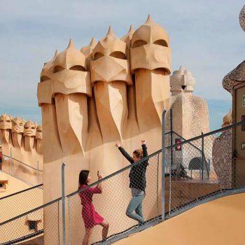 Памятники в Барселоне. Parque Güell и необычный Дом Мила