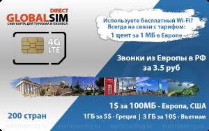 Globalsim-DIRECT-pryam_Turkey. Все предложения сотовых операторов Швейцарии,
