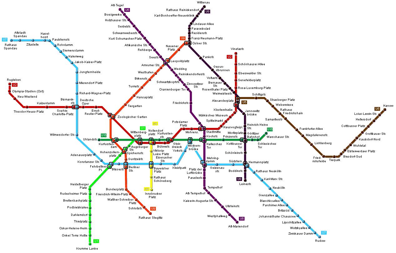 карта метро Берлин